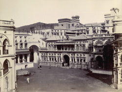 [View of the Palace courtyard, Junagadh.]